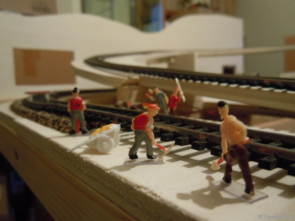 Baubericht der Gleisbauarbeiten