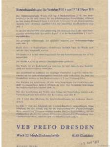 Betriebsanleitung für Weiche P31 Seite 1