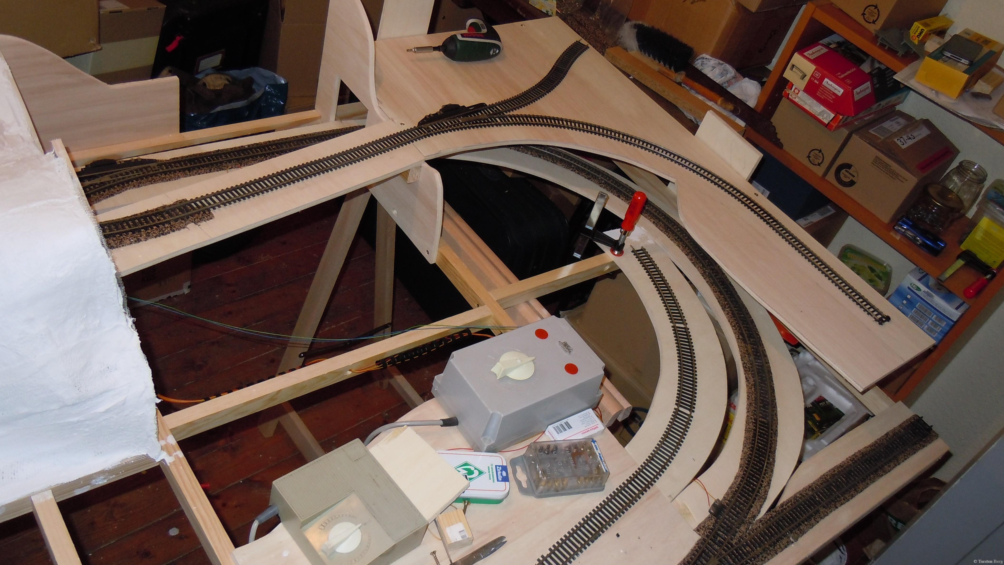 Gleisbauarbeiten in Waldesruh