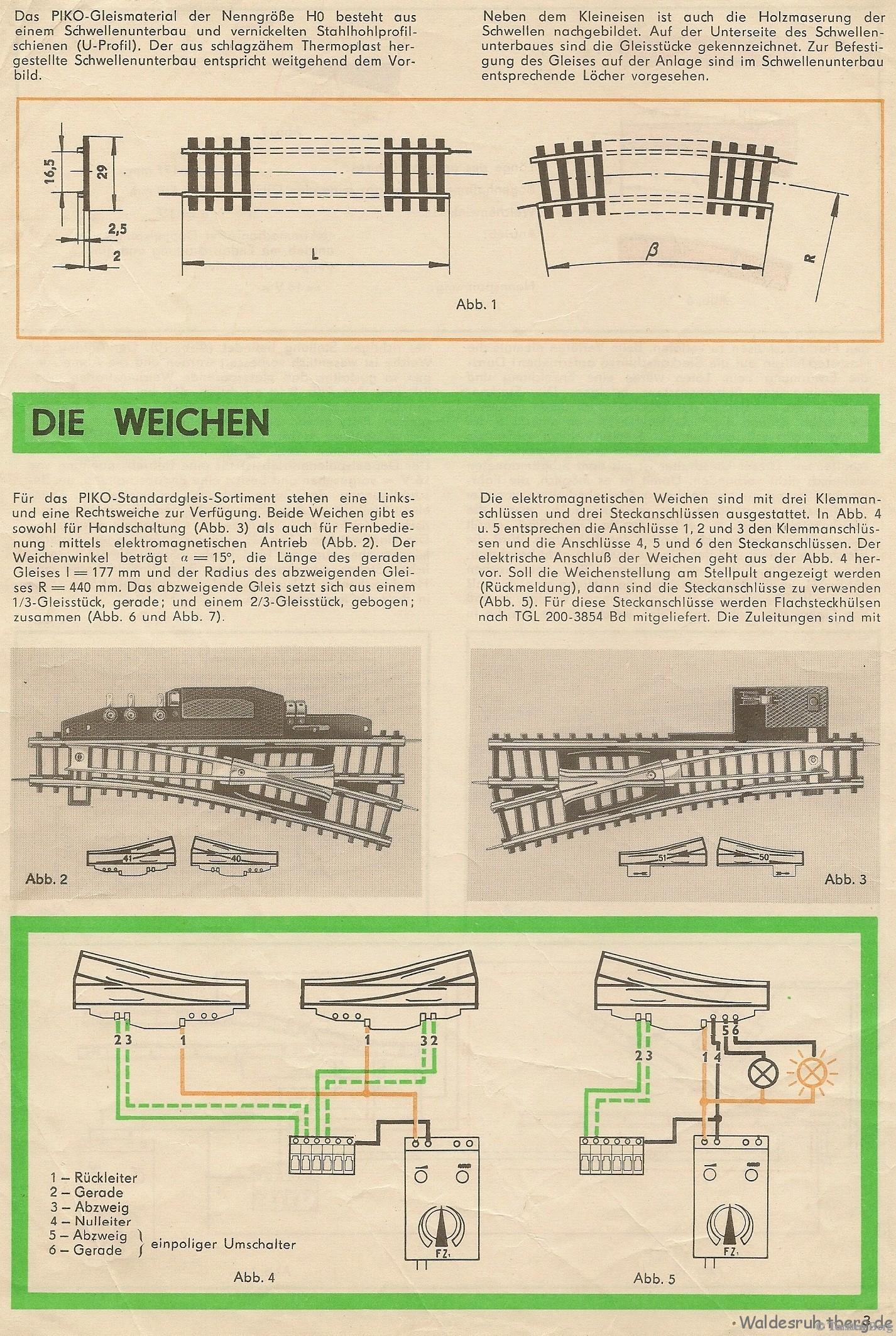 04 PIKO Gleisplanheft Weichen