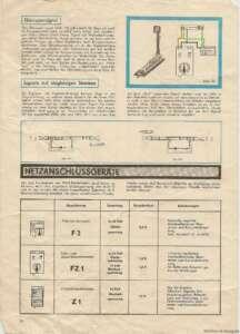 13_Signale-Gleissperrsignal, Signale auf eingleisigen Strecken, Netzanschlussgeräte