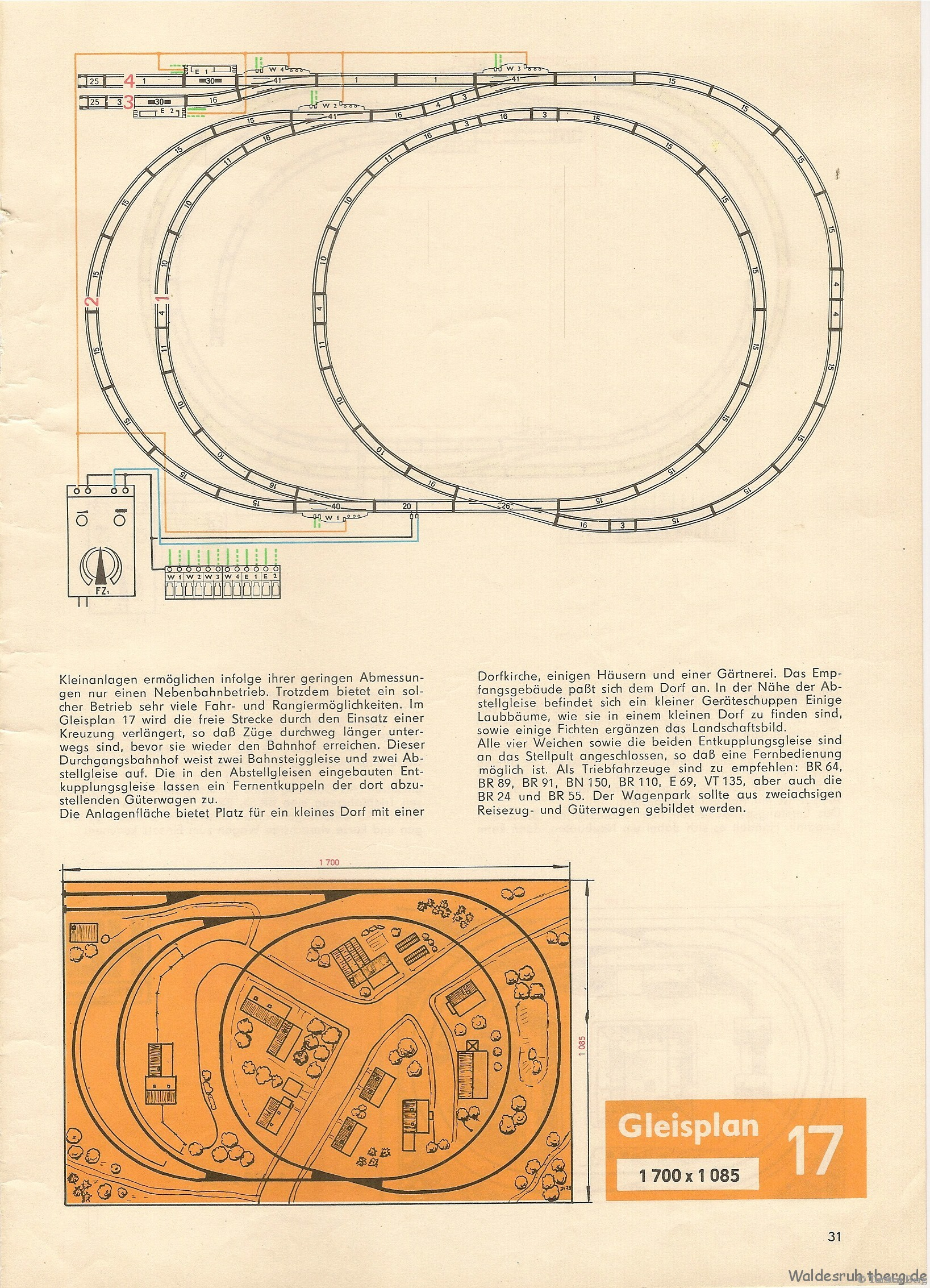 32 PIKO Standardgleis-Gleisplan 17