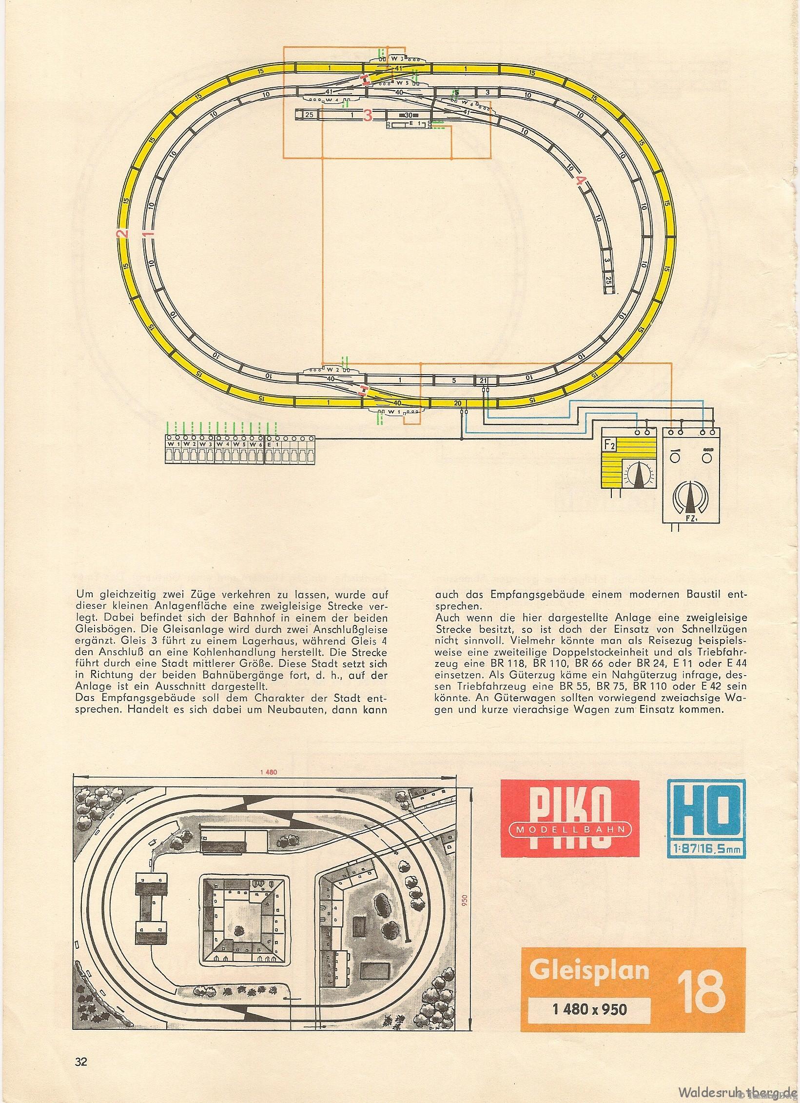 33 PIKO Standardgleis-Gleisplan 18