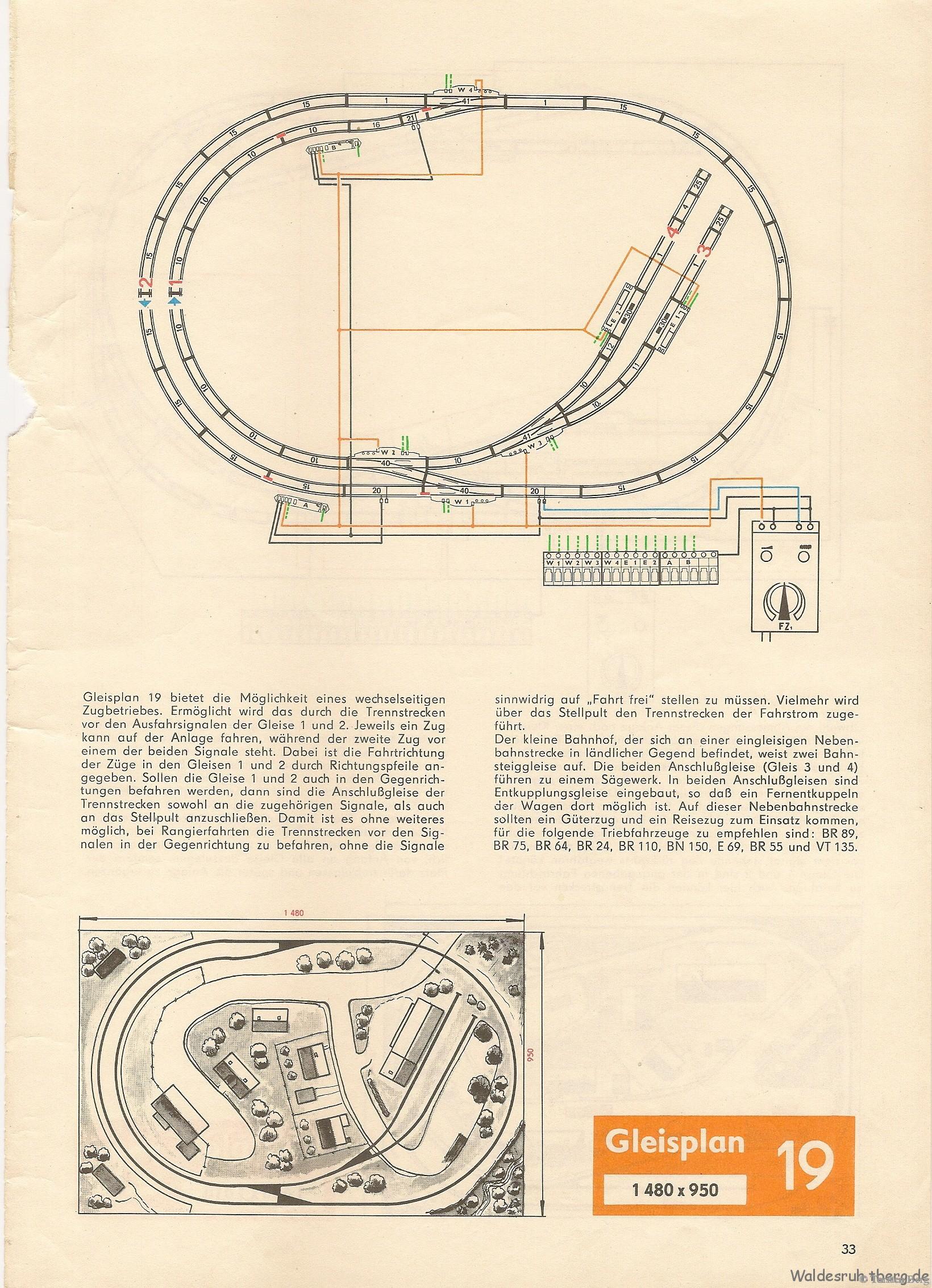 34 VEB PIKO Standardgleis-Gleisplan 19
