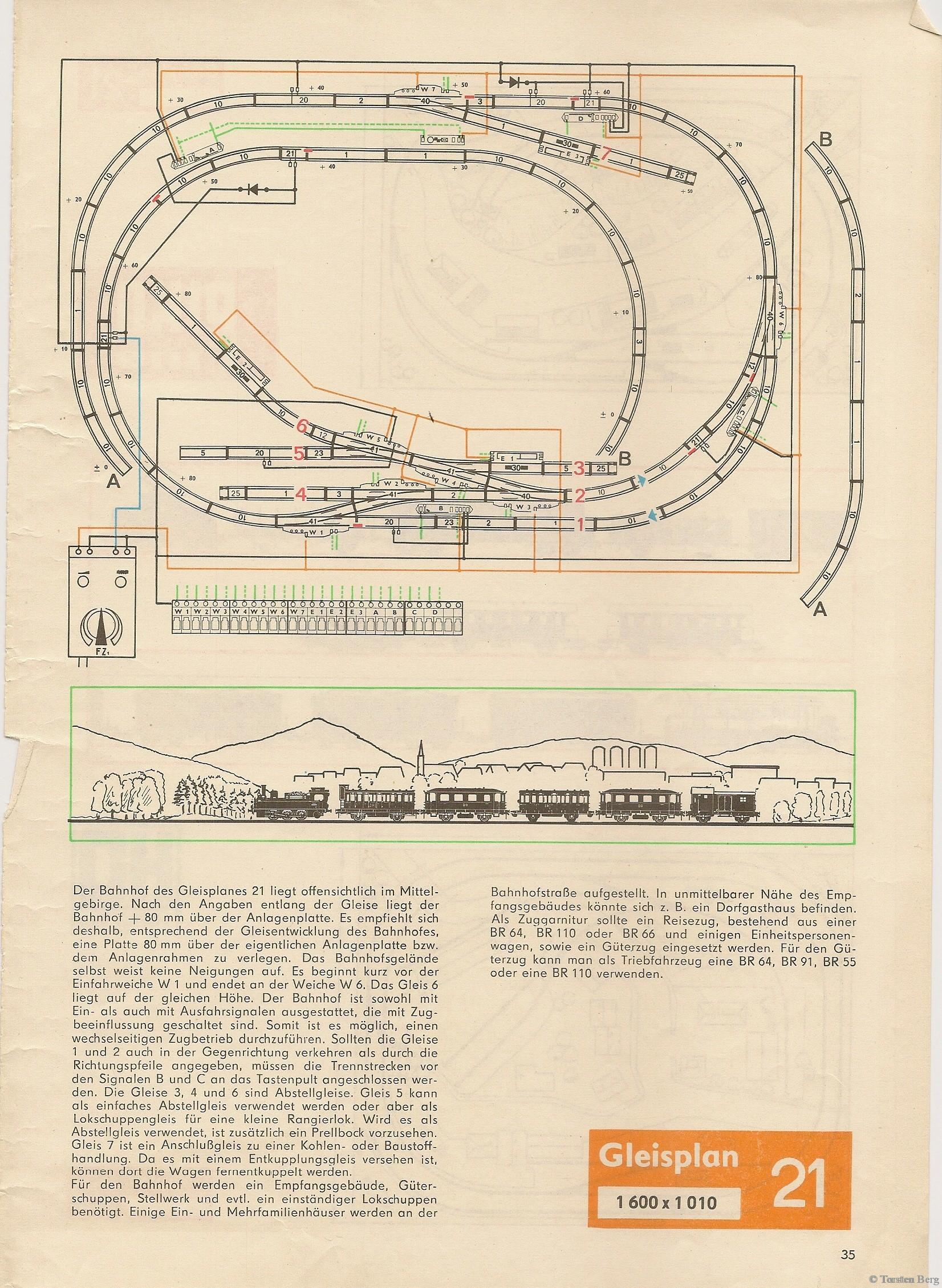 36 PIKO Standardgleis-Gleisplan 21