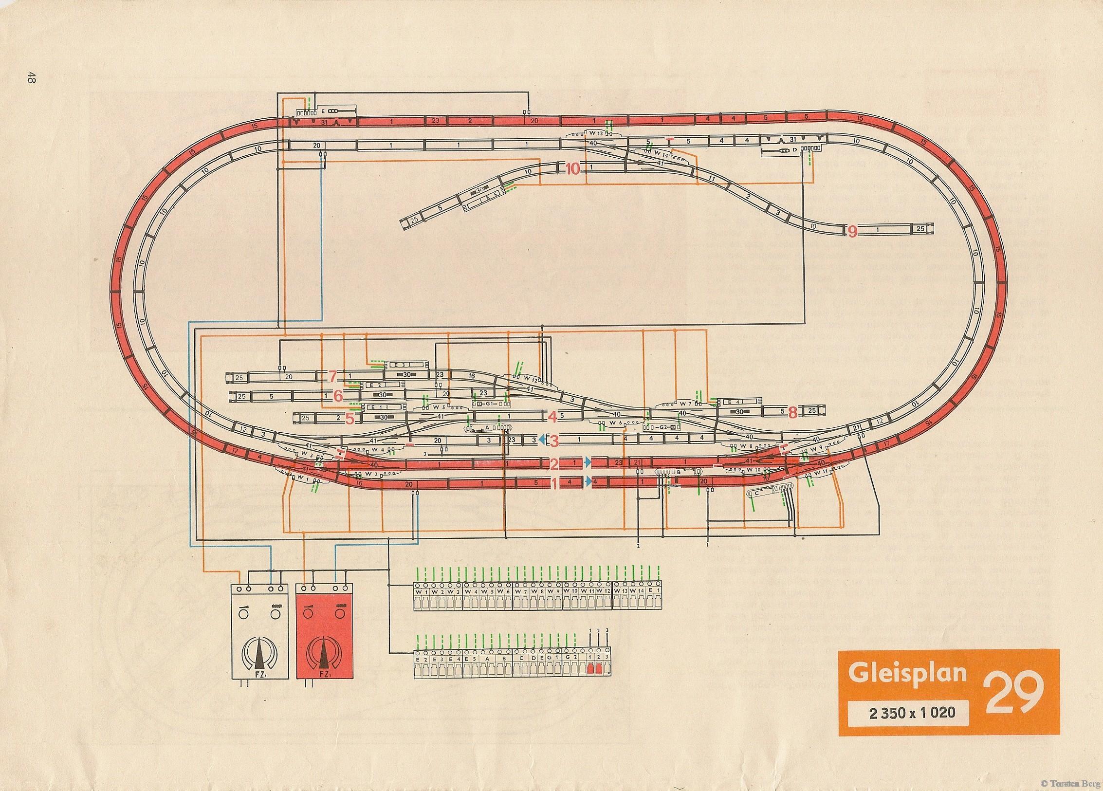 49 VEB Kombinat PIKO Standardgleis-Gleisplan 29