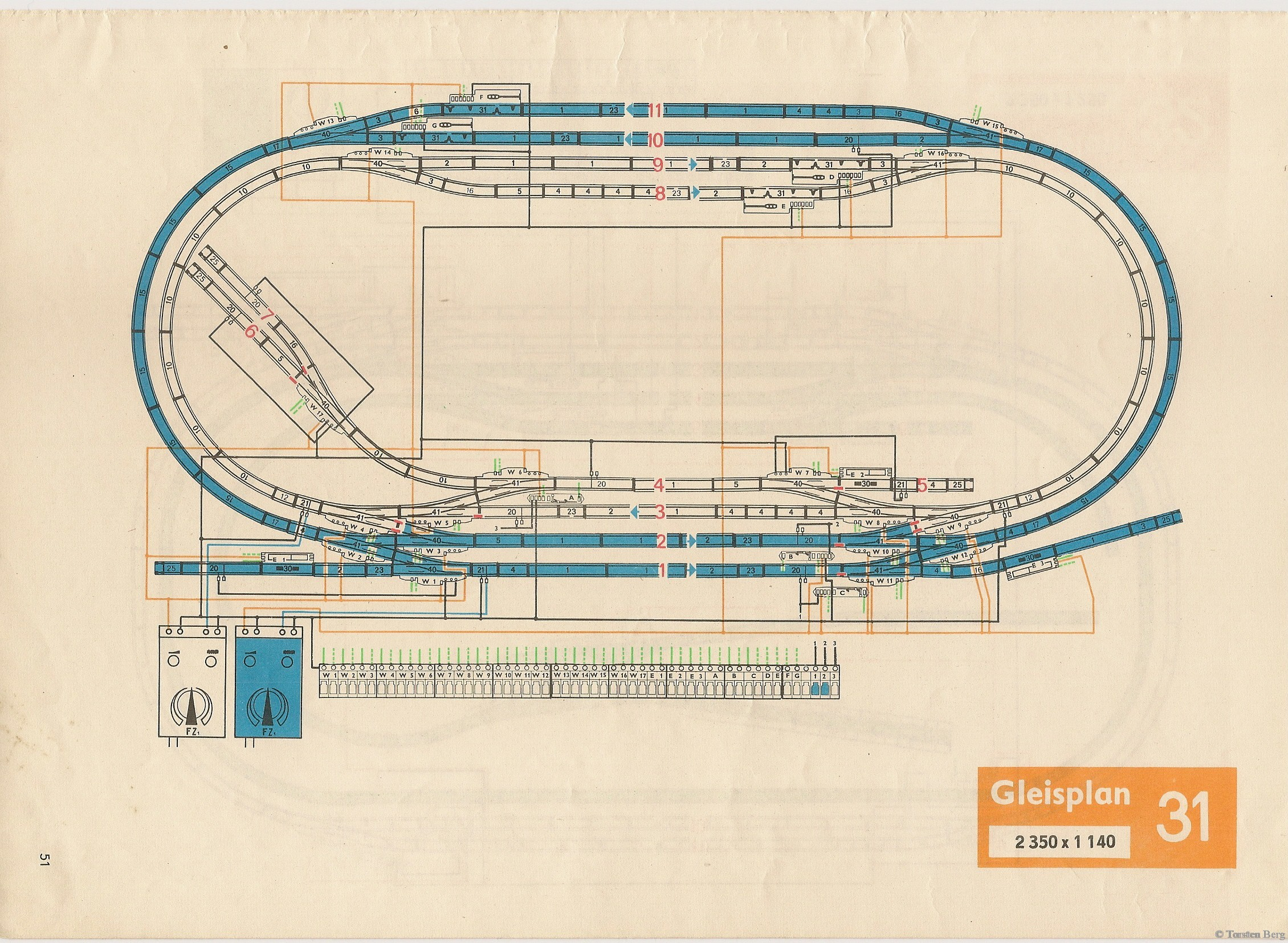 52 VEB Kombinat PIKO Standardgleis-Gleisplan 31