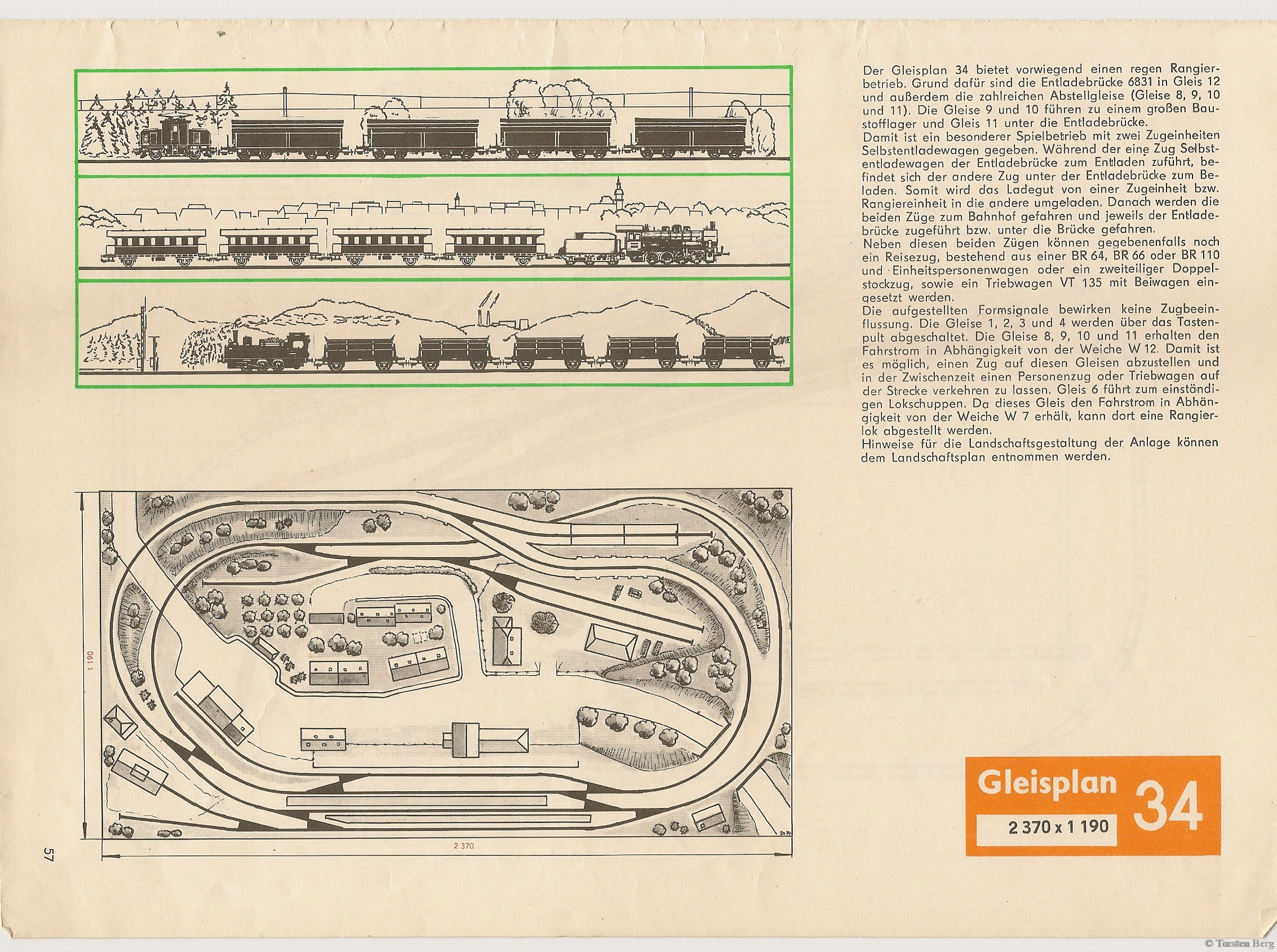 58 VEB Kombinat PIKO Standardgleis-Gleisplan 34