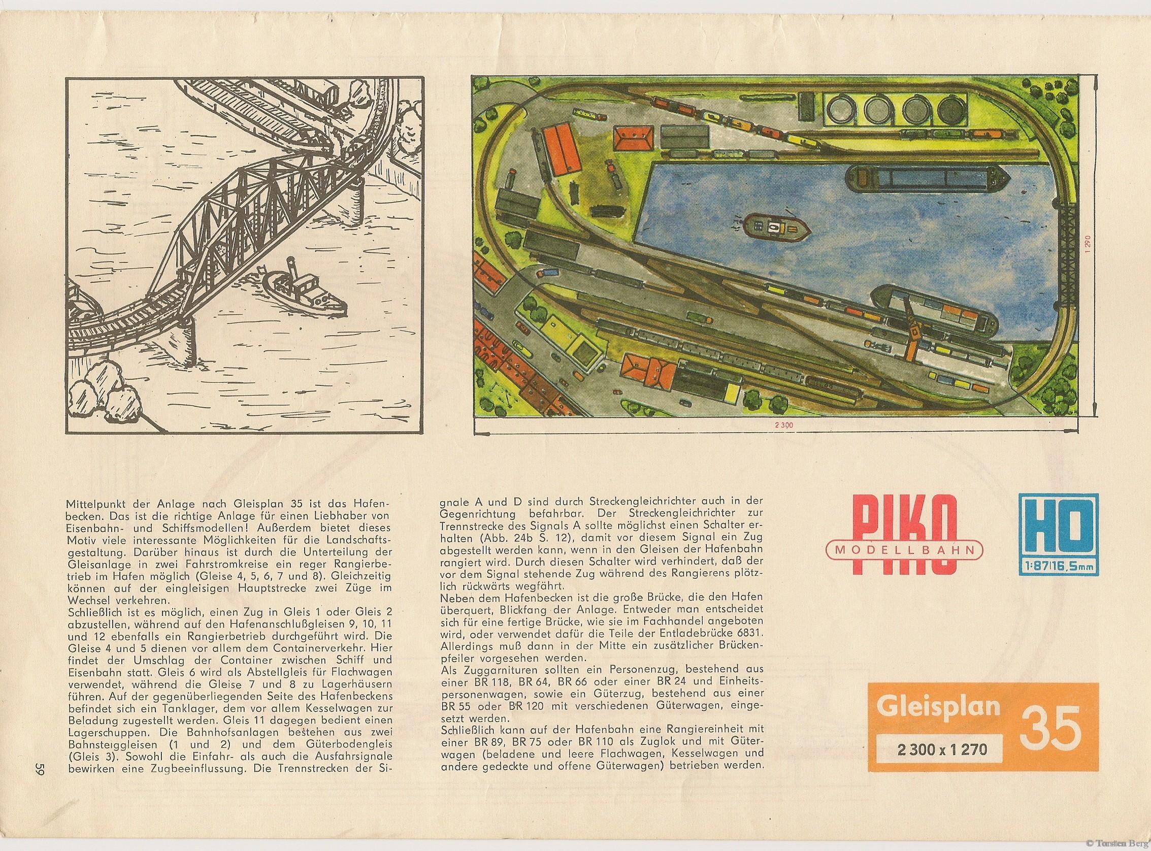 60 VEB Kombinat PIKO Standardgleis-Gleisplan 35