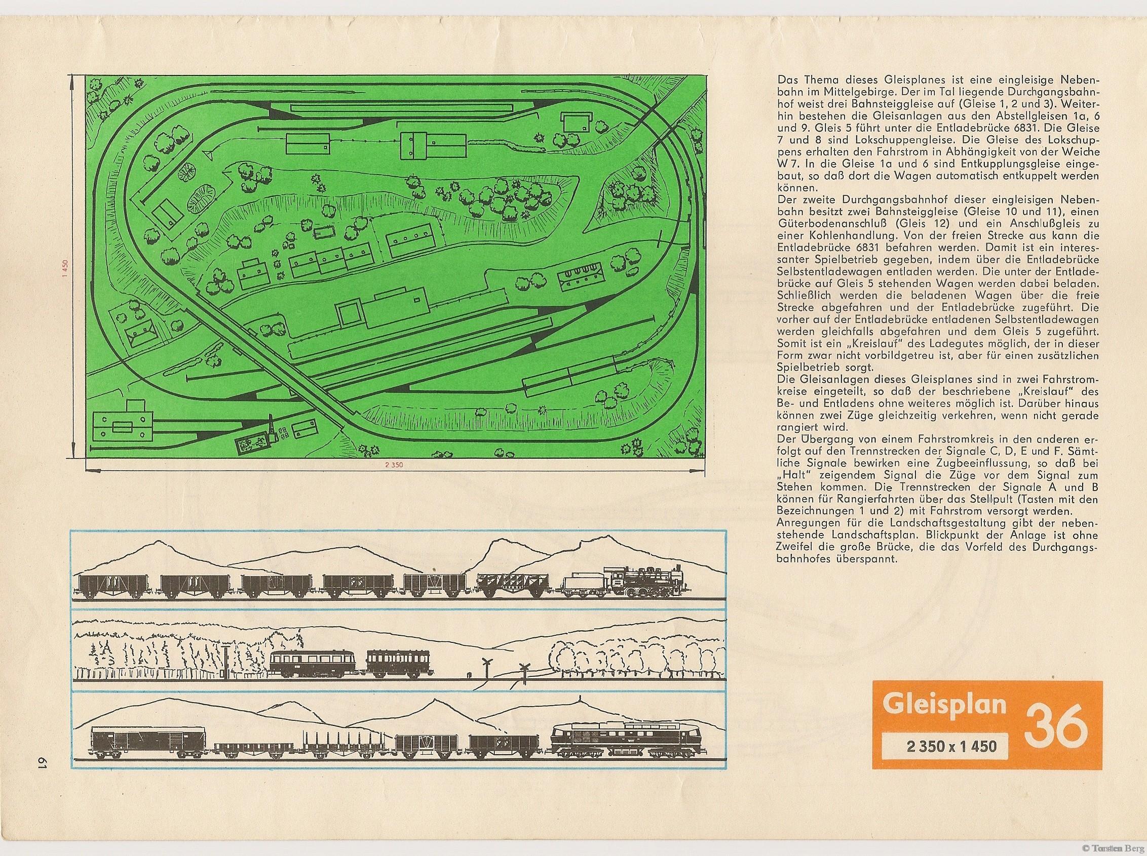 62 VEB Kombinat PIKO Standardgleis-Gleisplan 36