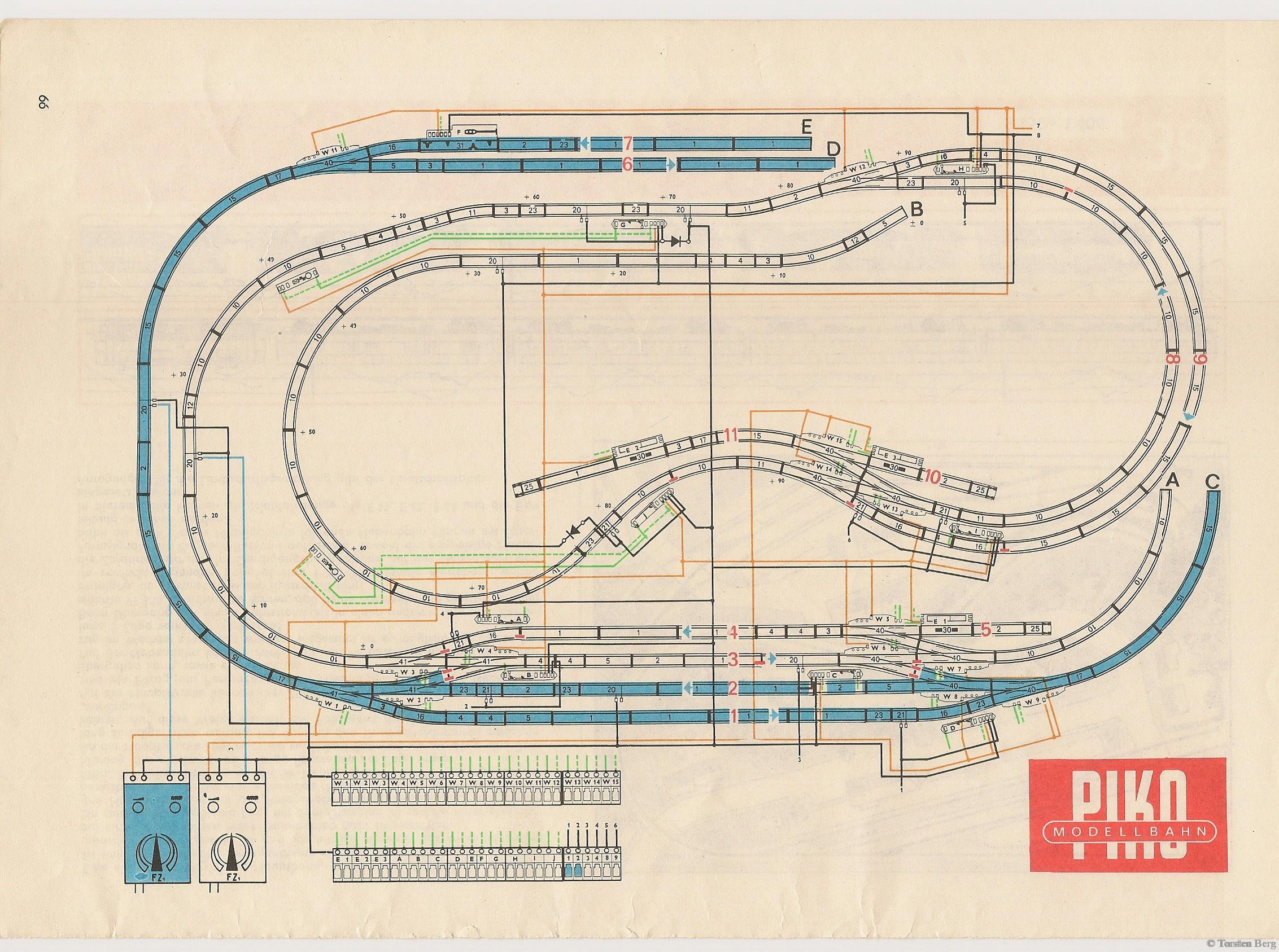 VEB Kombinat PIKO Standardgleis-Gleisplan 39