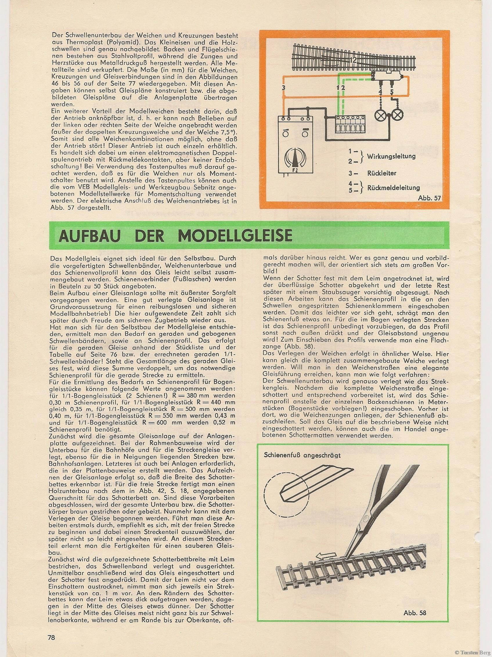 79_Aufbau der Modellgleise