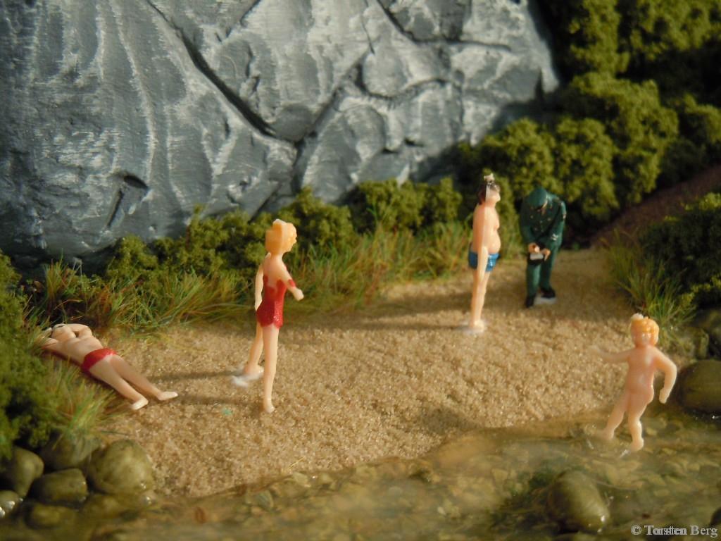 Badende - Modellbahnfiguren