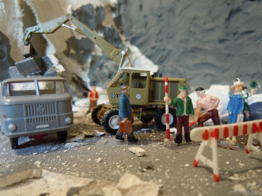 Bauarbeiten in Waldesruh