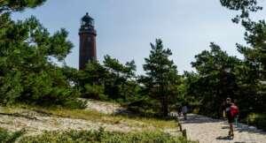 Der Leuchtturm ist der Ausgangsort für den Rundwanderweg