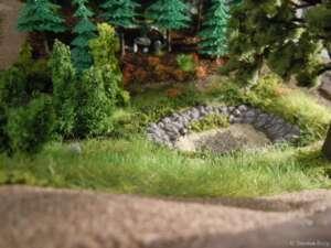 Begrasung der Fläche um den Waldweiher