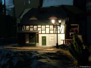Beleuchtung an der Rukollamühle