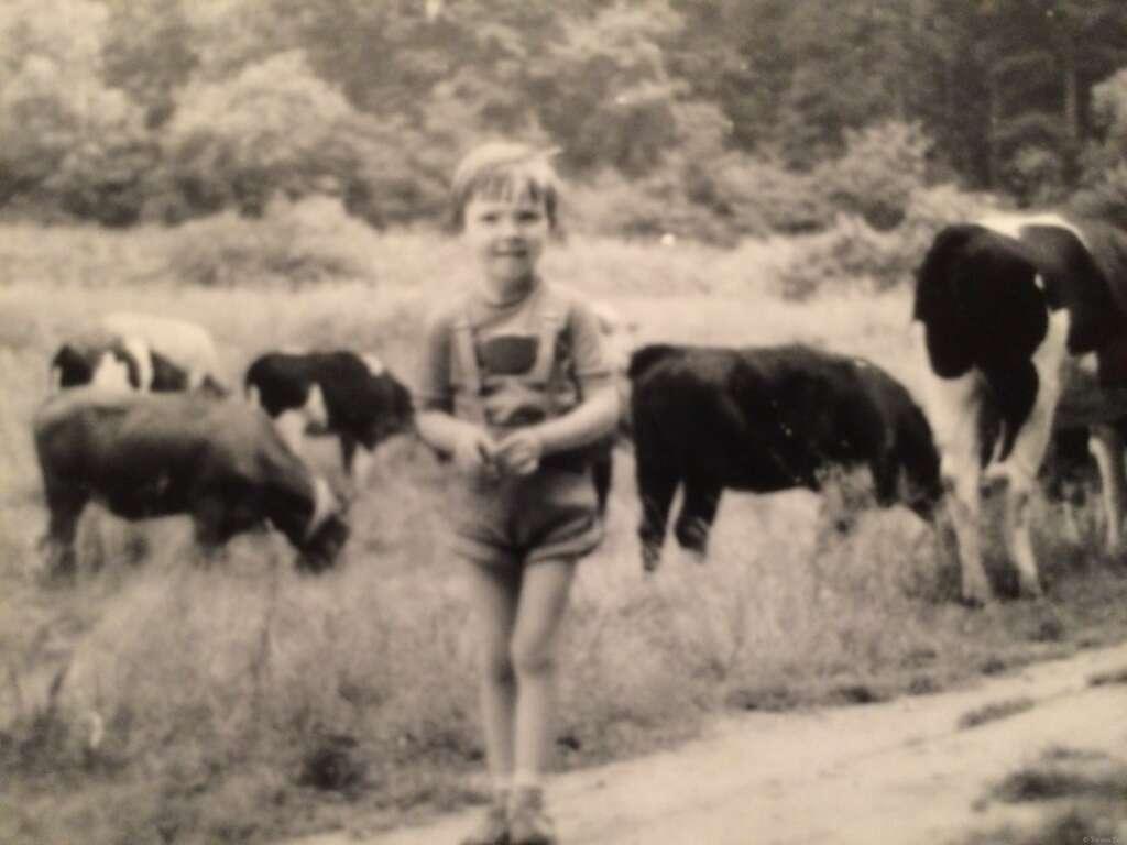 1975 im Urlaub im Thüringen. Damals standen die Kühe noch auf der grünen Wiese und nicht in einer Produktionsfabrik.