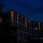 In der Überseestadt Bremen am Wesertower - Fotowalk Bremen bei Nacht
