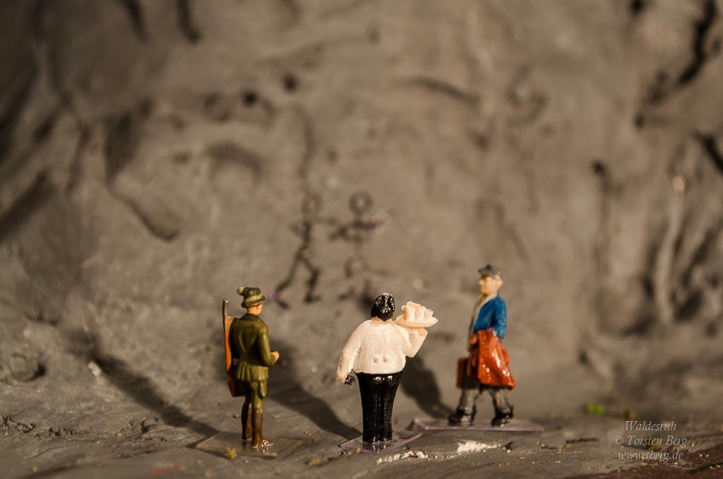 Wandschmierereien oder prähistorische Felszeichnungen?