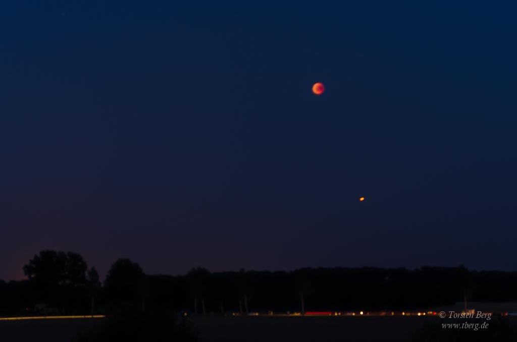 Für die totale Mondfinsternis 2018 bei Syke unterwegs mit tberg.de