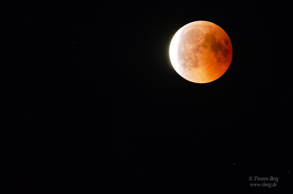 Die totale Mondfinsternis 2018 bei Syke