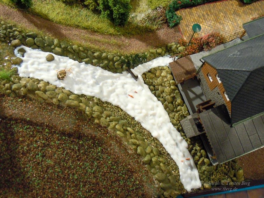 Weiterbau an Steinbruch und Mühlenbach