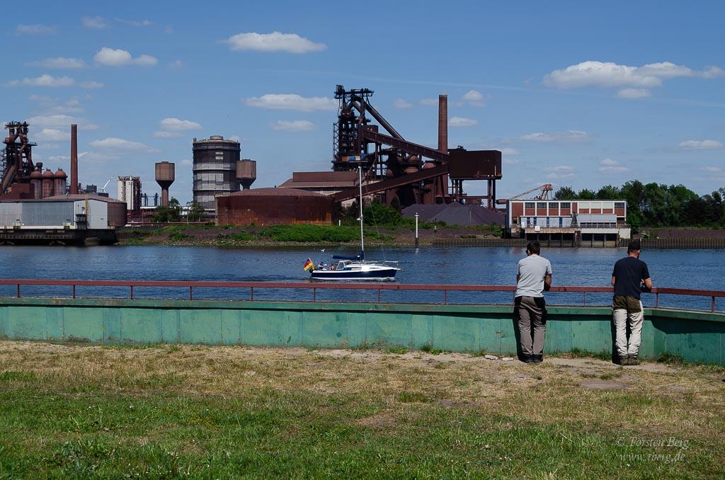 Fahrradtour Tidebiotop in Niedervieland - Industrieromantik, das Stahlwerk in Bremen
