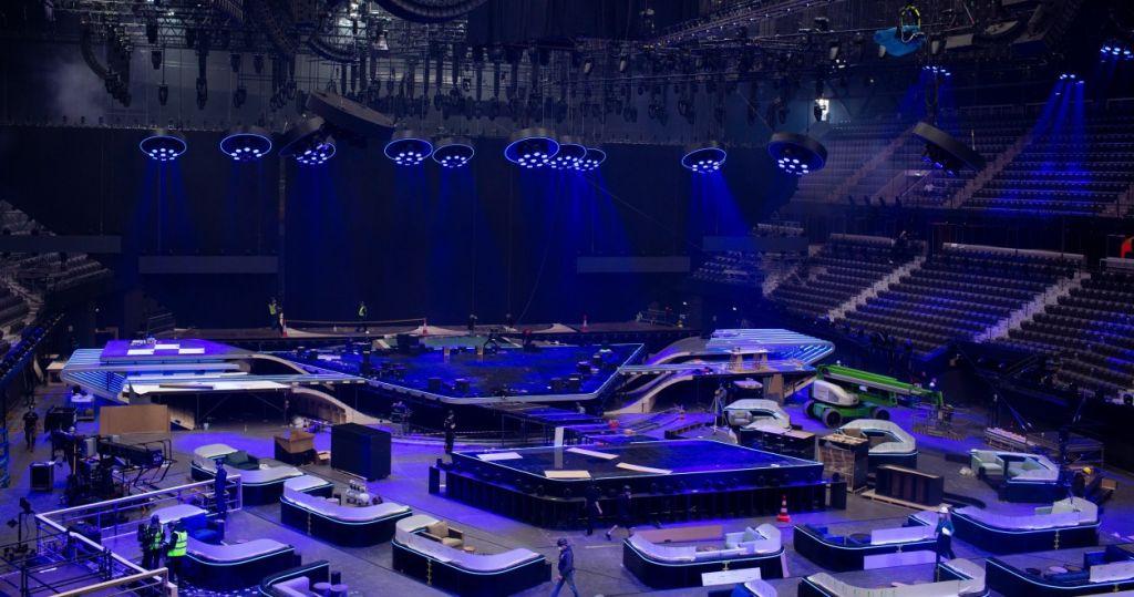 Der Eurovision Song Contest Rotterdam 2021 startet hier in der Ahoy-Arena Fotograf Stijn Smulders