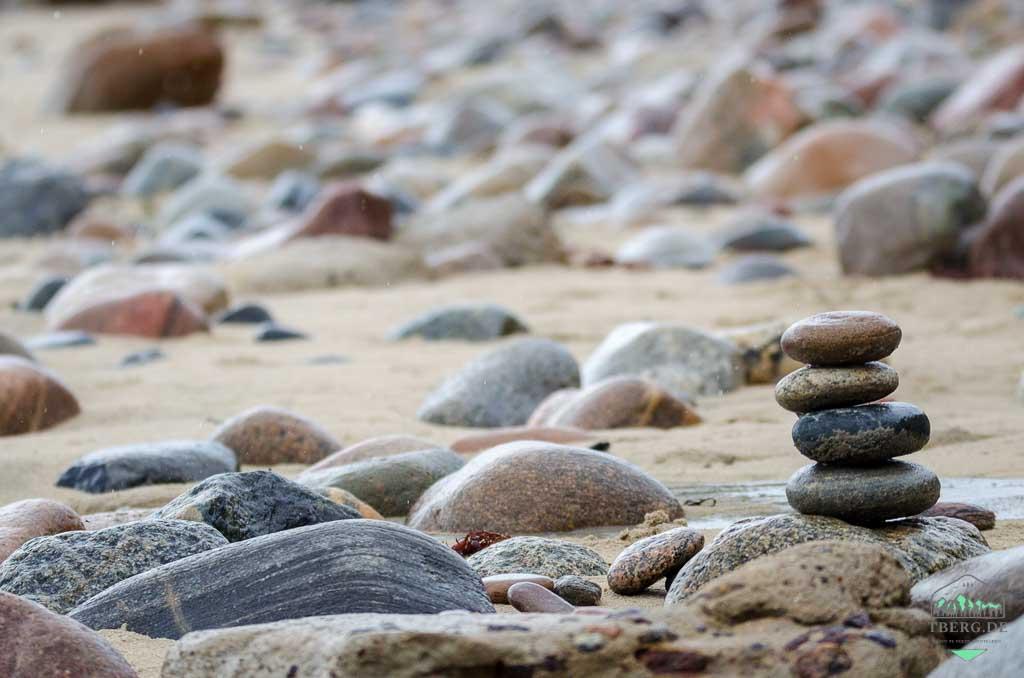 August 2021 - im Sommer, der keiner ist - Regen am Strand